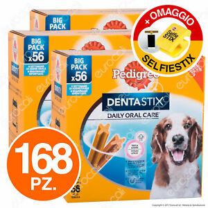 168 Pedigree Dentastix Large Medium o Small Igiene Orale del Cane - 3x56 Stick