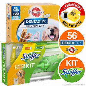 Kit Swiffer Catturapolvere e Peli + Pedigree Dentastix Igiene Orale per cani
