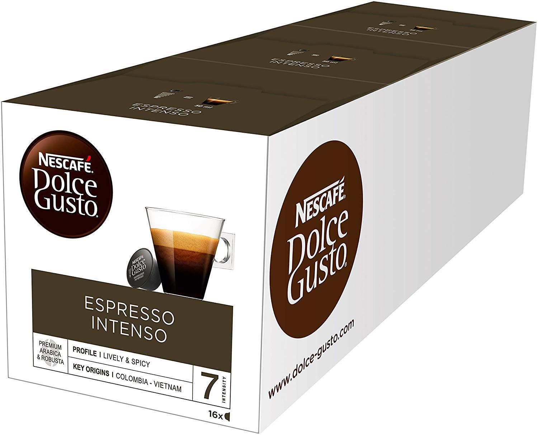 Nescafé Dolce Gusto Espresso Intenso, Pacco da 3 (Totale 48 capsule)