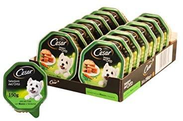 14x Cesar Selezioni dell'Orto Cibo per Cane, Delicato Paté con Manzo e Verdurine 150 gr