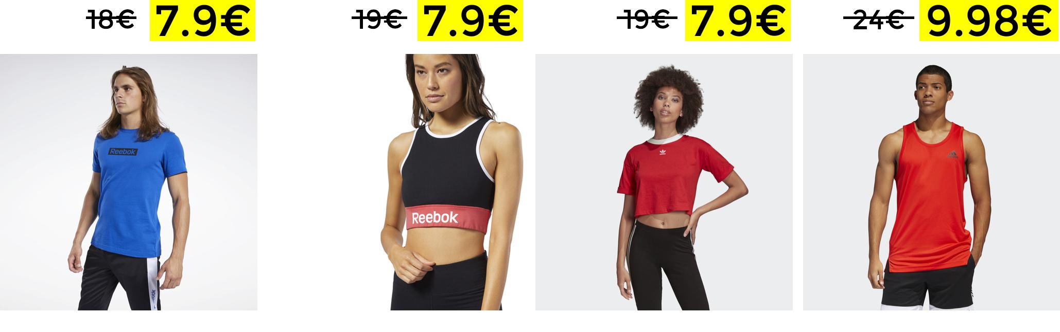 Outlet Adidas e Reebok 50% + 20% Extra