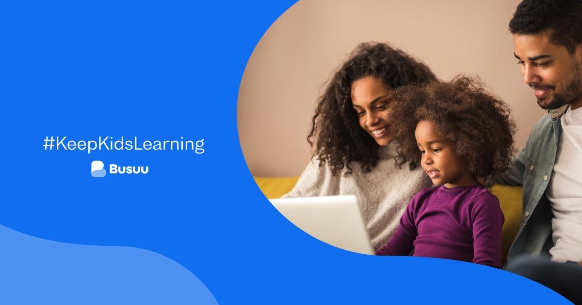 Acceso GRATIS a lezioni di lingua live per bambini - Busuu