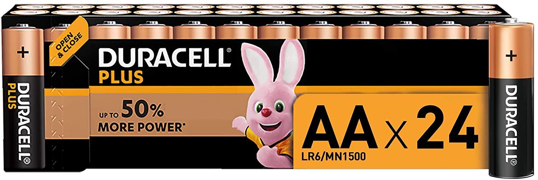 Duracell Plus AA, Batterie Stilo Alcaline, 1.5 V LR06 MX1500, Confezione da 24 Warehouse