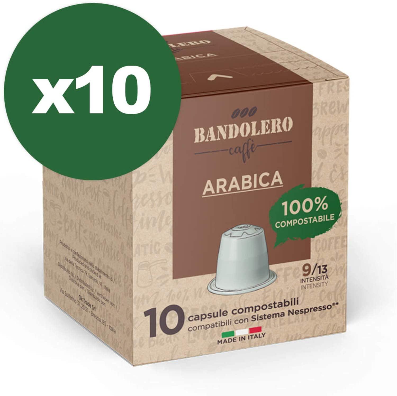 100 Capsule Caffè Arabica da Bandolero compatibili Nespresso