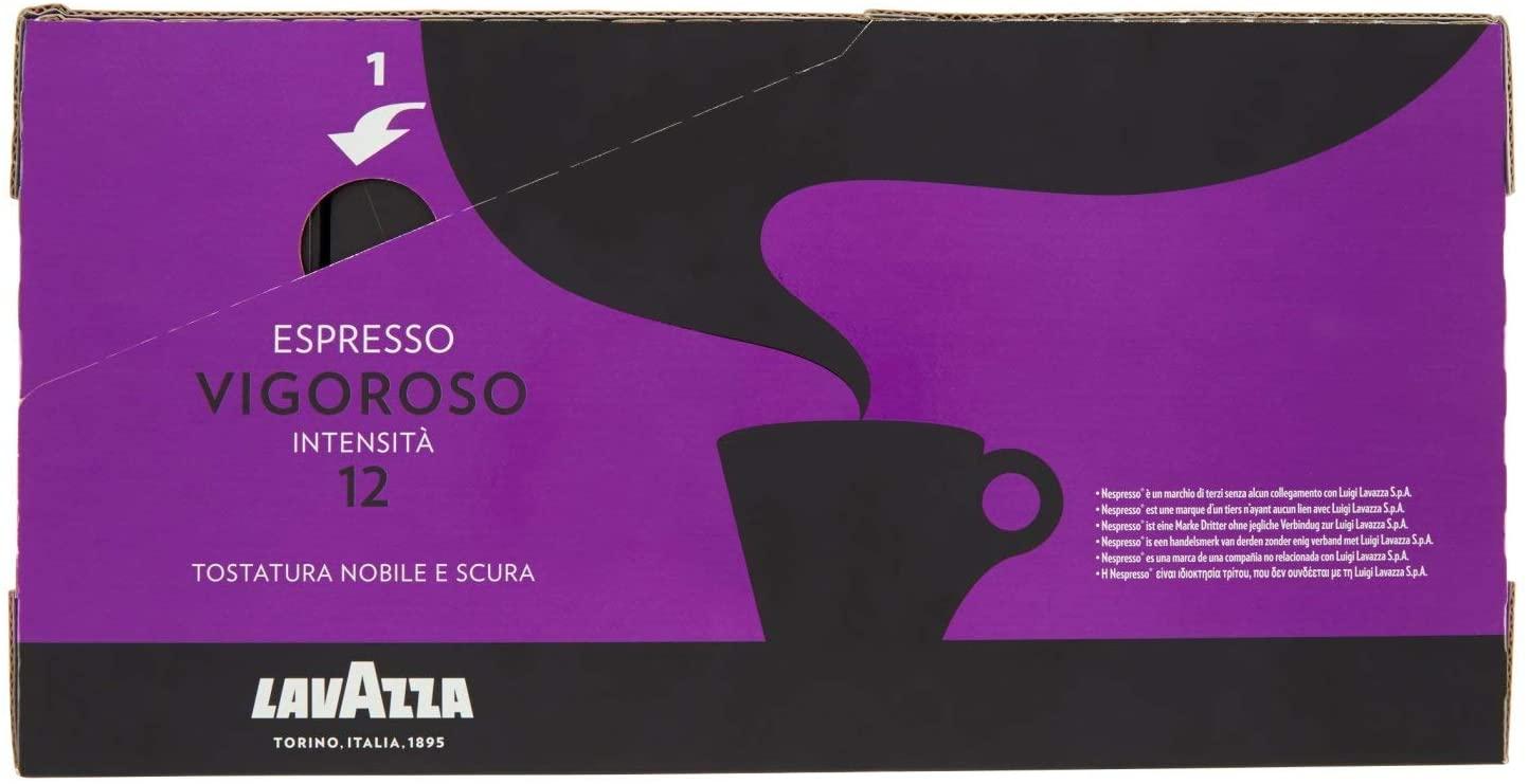 Lavazza Capsule Compatibili Nespresso Espresso Vigoroso, [100 Capsule]