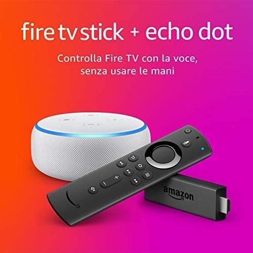 Fire TV Stick con telecomando vocale Alexa + Echo Dot (3ª generazione)