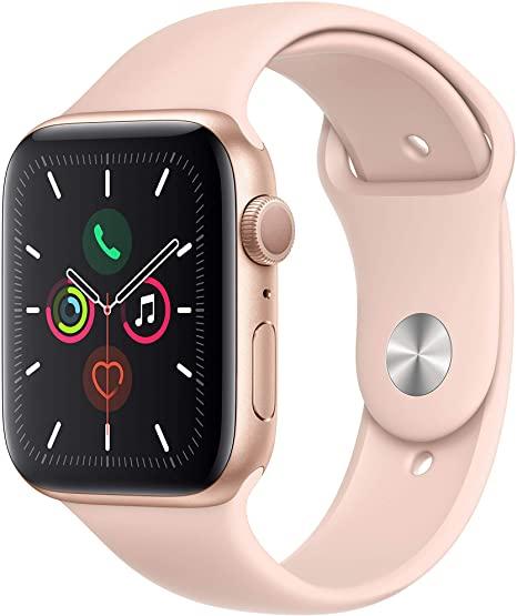 Apple Watch Series 5 GPS - 44mm Caso in Alluminio Oro con Sabbia Rosa Cinturino Sportivo