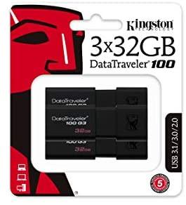 3X 32Gb Kingston DataTraveler USB 3.0, 3.1