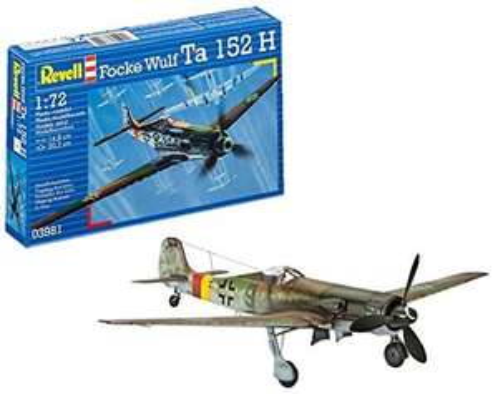 Revell- Focke Wulf Ta152H Kit Aeromodello, Multicolore, 03981