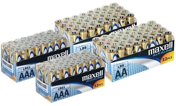 32 batterie maxell AA e AAA alcaline