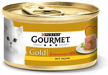 Purina Gourmet Oro schmelzender Nucleo mangime per Gatti, (Confezione da 12 X 85 G) Barattoli