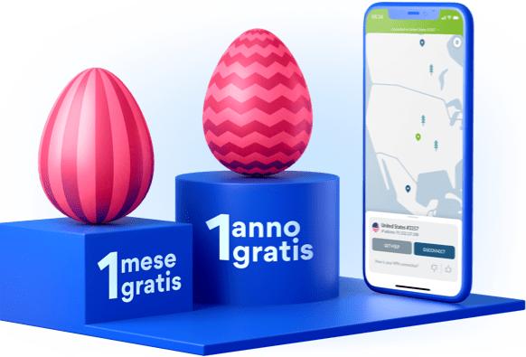 Offerta Pasqua NordVPN Abbonamento VPN di 3 anni per 111.80 + 1 anno in più al mese gratis con tuffo fortunato