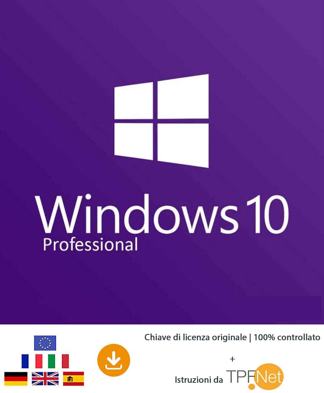Licenza MS Windows 10 Pro 32 bit e 64 bit