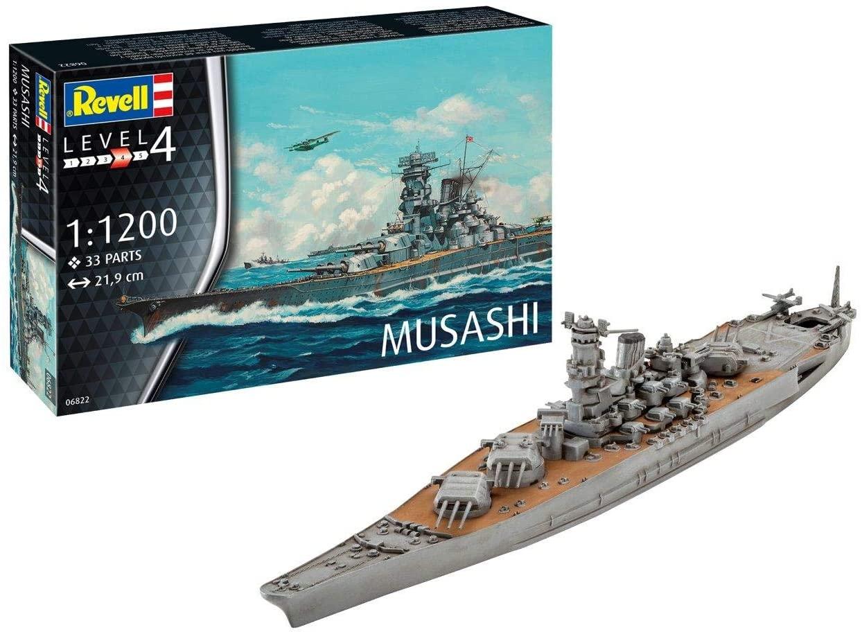 Revell- Musashi Kit di Modelli in plastica, Multicolore, 1/1200, 06822