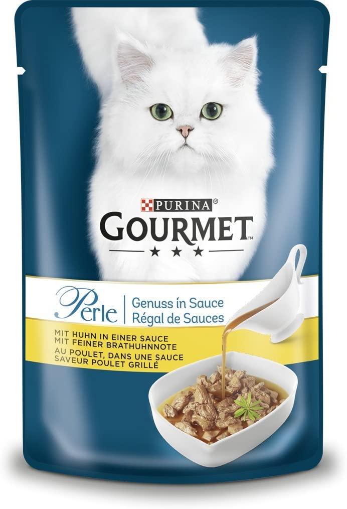 Purina Gourmet Perle Piacere in Sacchetto mangime per Gatti, Confezione da Pezzi (24 X 85 G) Pollo