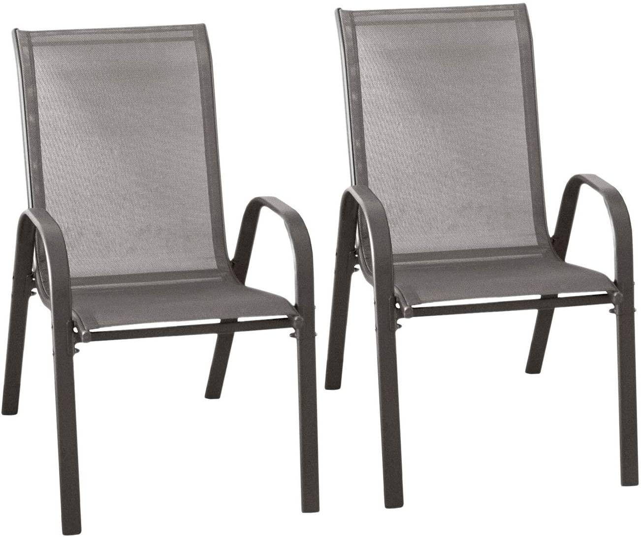 Set 2 sedie impilabili