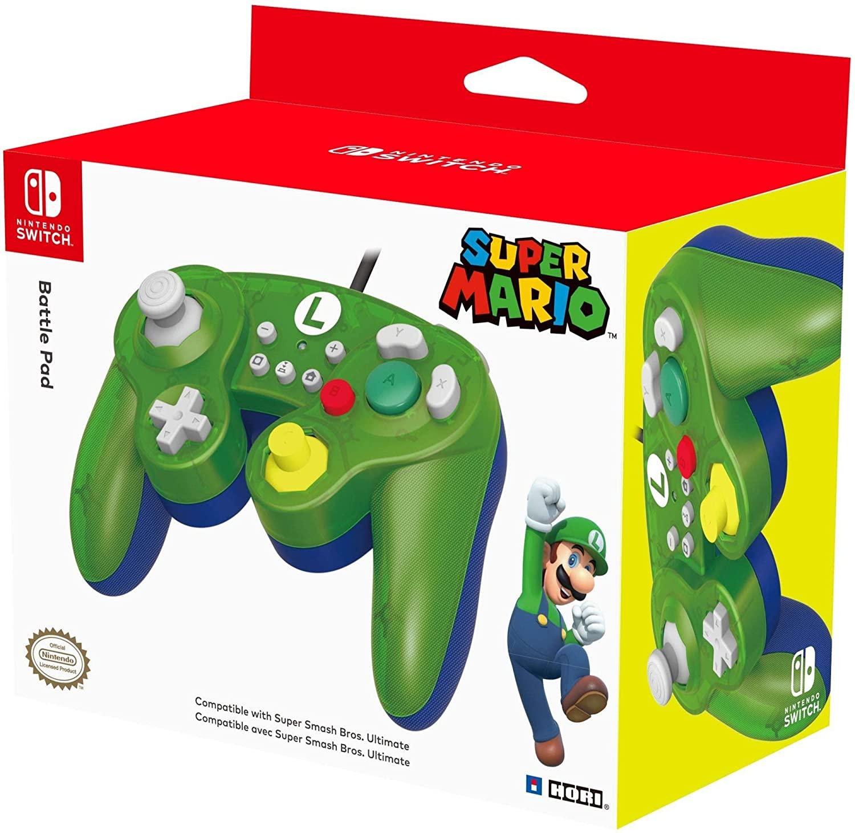 Hori Battle Pad (Luigi) - Controller USB in stile Gamecube Per Nintendo Switch - Ufficiale Nintendo - Nintendo Switch