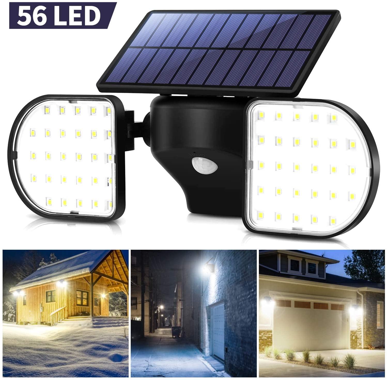 Lampione Da Parete Per Esterni Con Pannello Solare 56 LED
