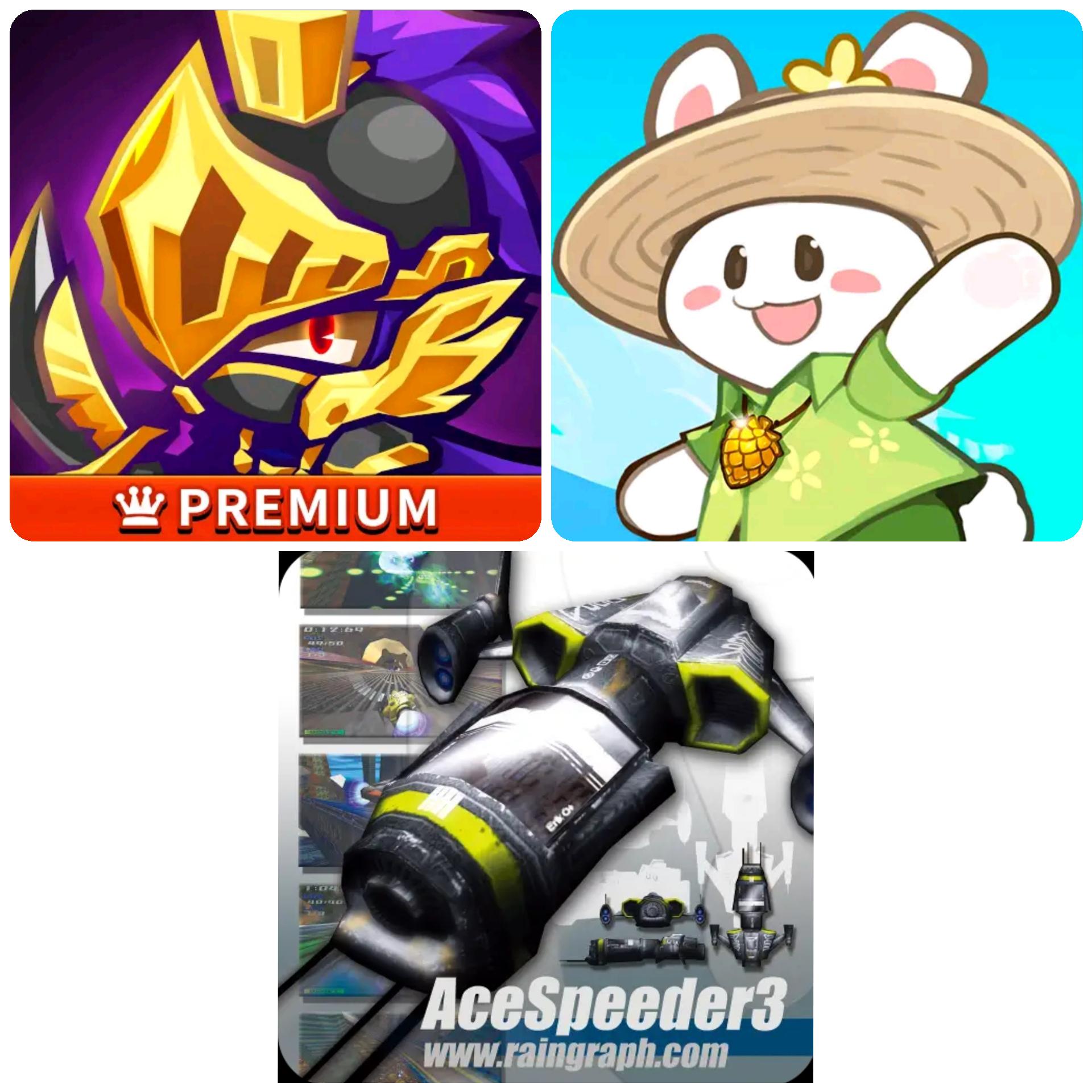 Play Store: Triple Fantasy Premium + Animal Camp Healing Resort + AceSpeeder 3