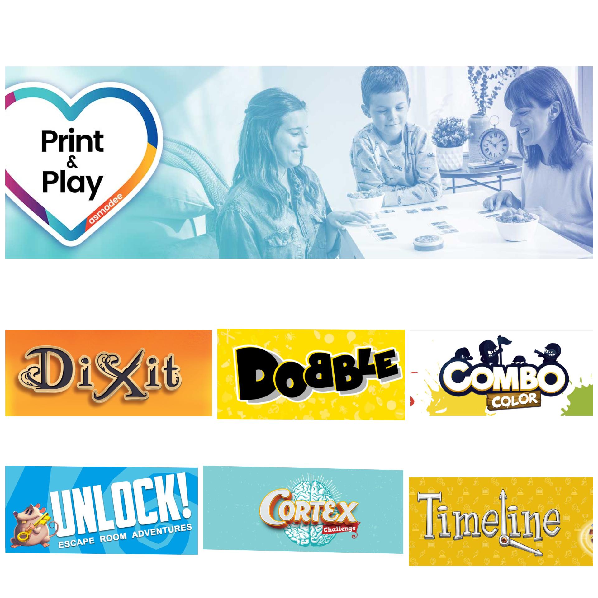 Asmodee Print & Play: 6 giochi da tavolo