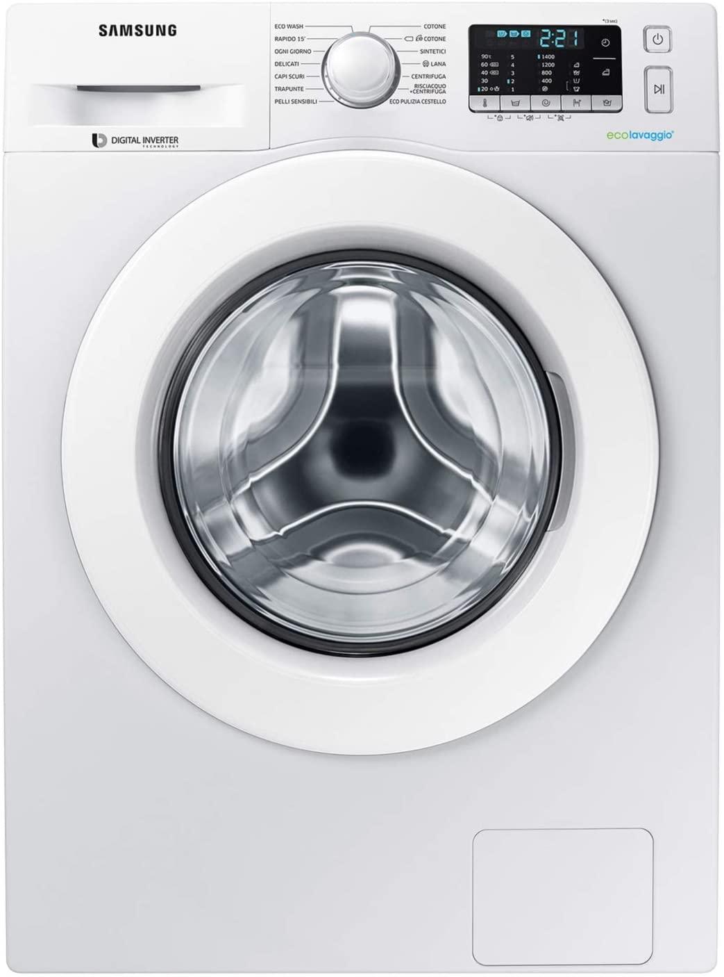 Samsung Lavatrice Standard, 8 kg, 1400 Rpm, Bianco WW80J5455MW/ET