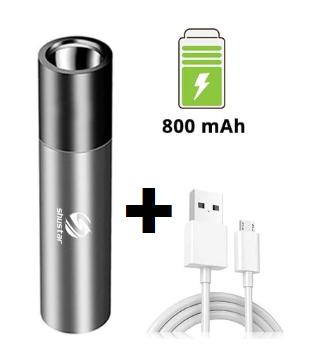 Torcia LED 500 Lumen - USB 2.6€