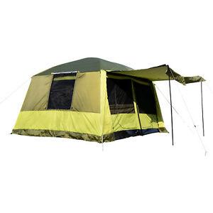 Outsunny Tenda da Campeggio con Veranda 8 Persone