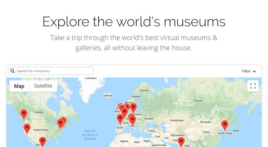 Tour gratis musei virtuali