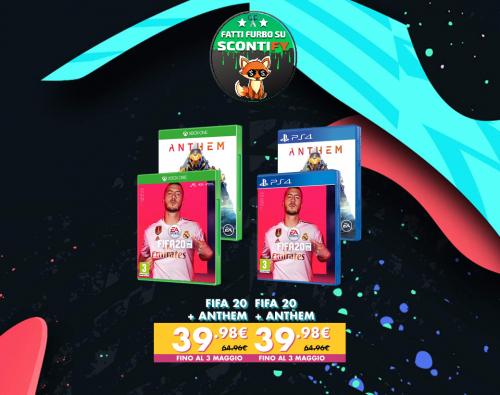 FIFA 20 PS4 XBOX + ANTHEM PS4 XBOX
