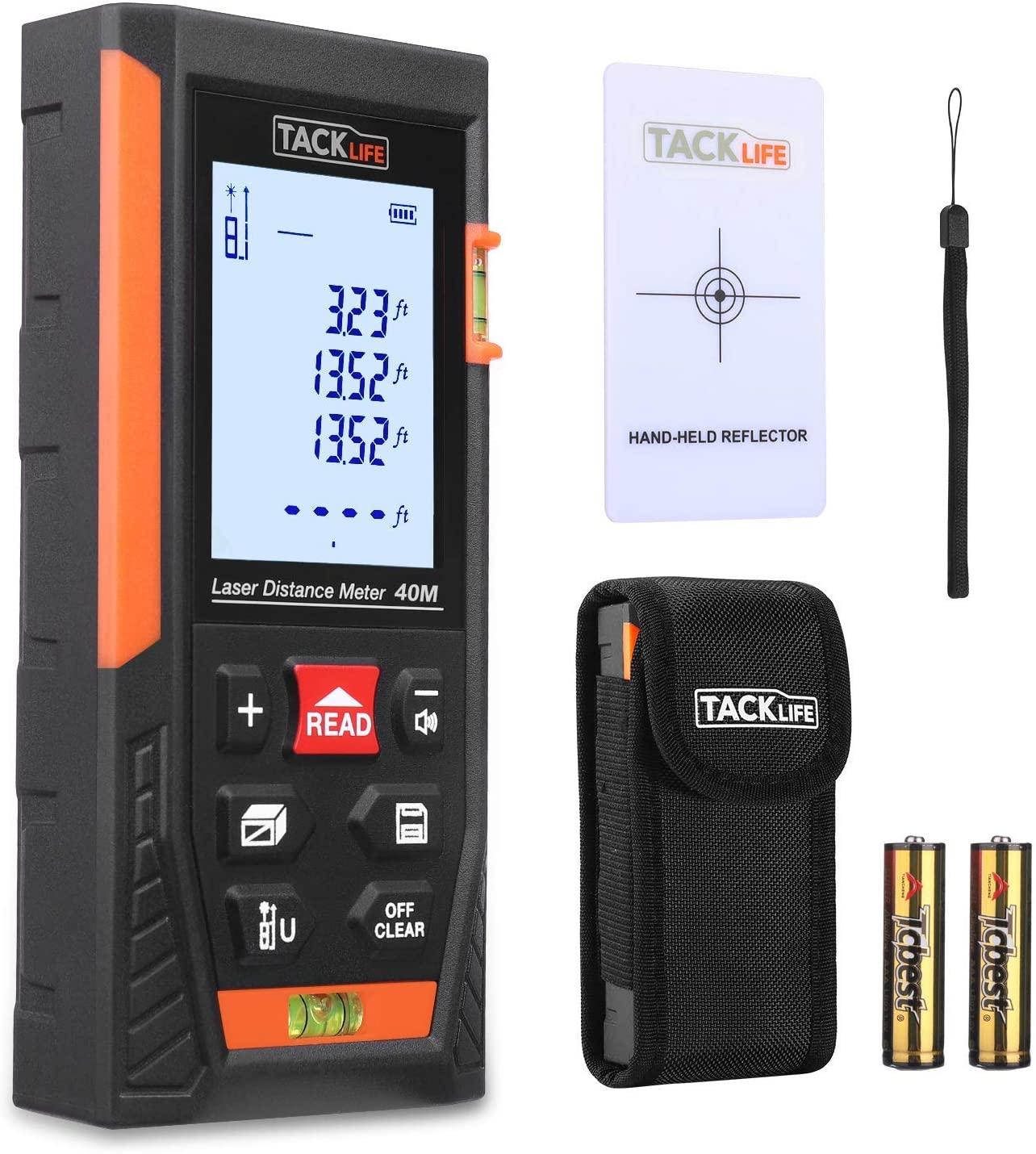 Telemetro Laser Distanziometro Classico, Tacklife HD40 in M/In/Ft