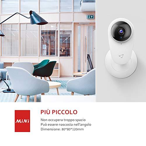 Victure 1080P Baby Monitor Telecamera WiFi Interno, Telecamera IP per Bambini e per Animali Domestici, Telecamera Interna con Visione Nott.