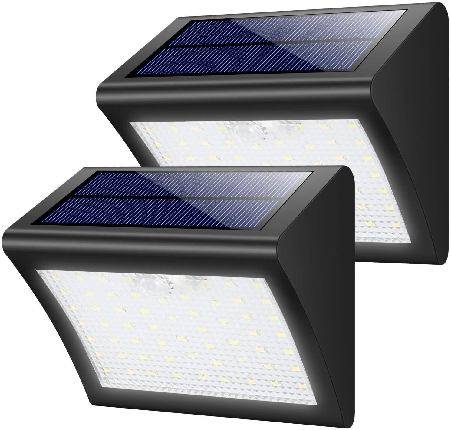 2 Lampade da Esterno Alimentate ad Energia Solare con Sensore di Movimento