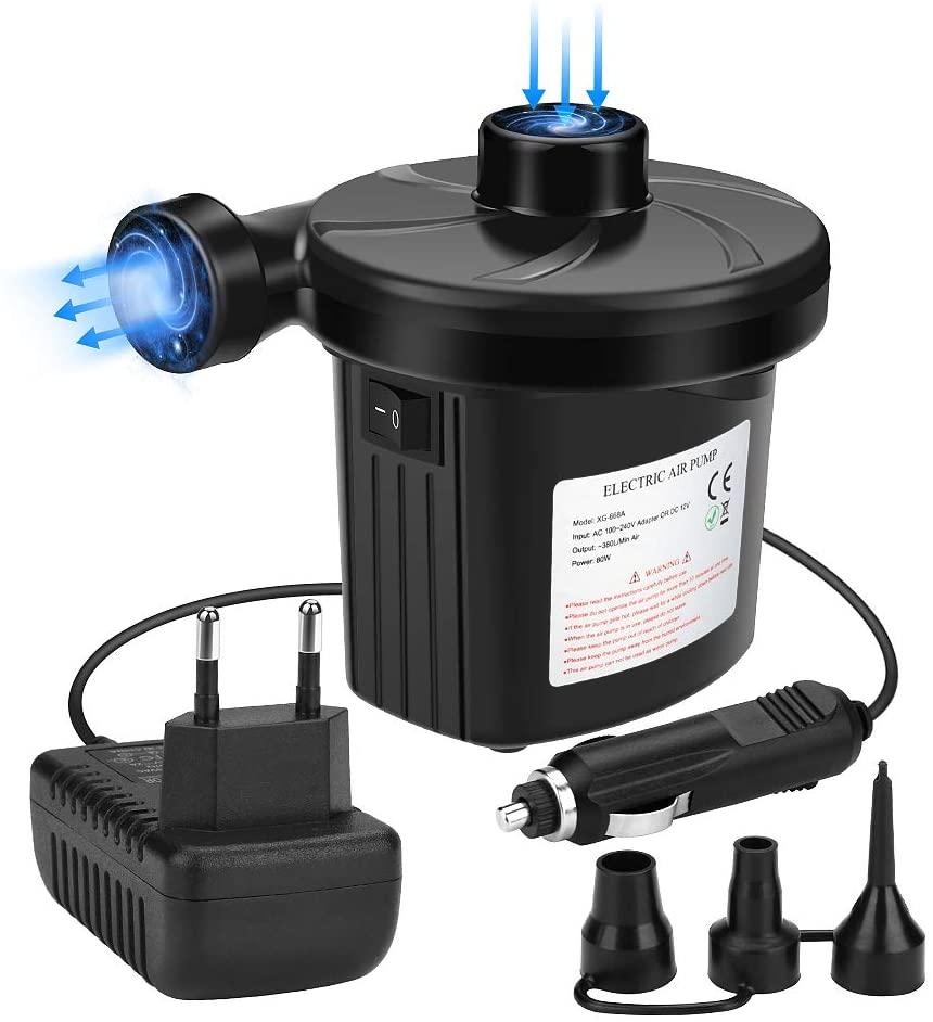 Pompa Elettrica 2 in 1 con 3 ugelli