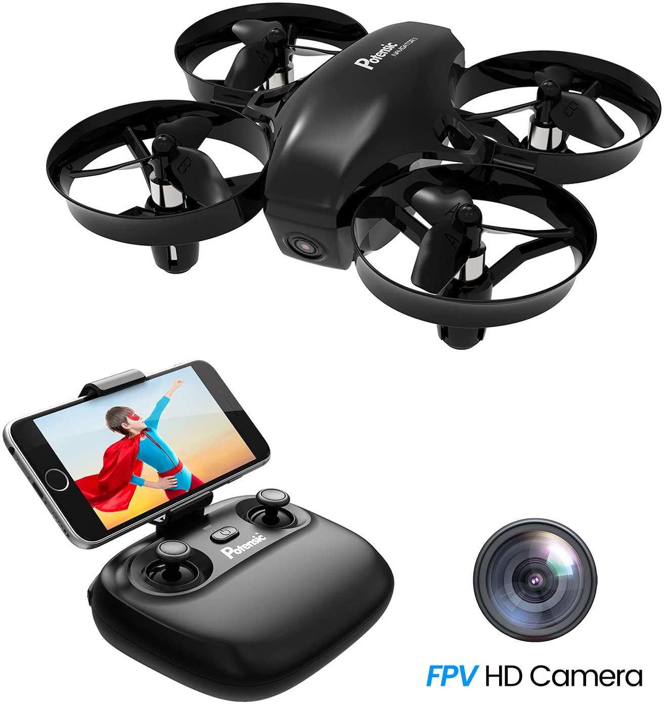 Potensic Mini Drone con Telecamera Telecomando Quadricottero WiFi