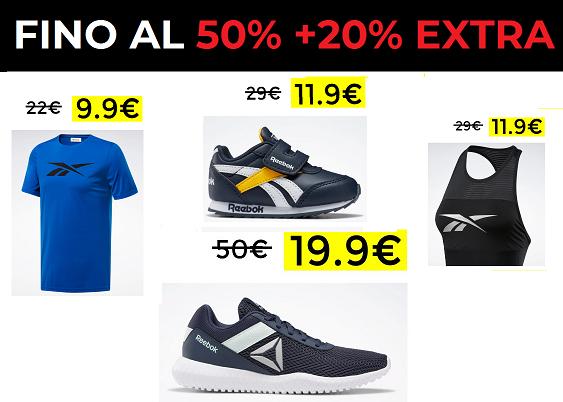 Rebook 50% + 20% Extra