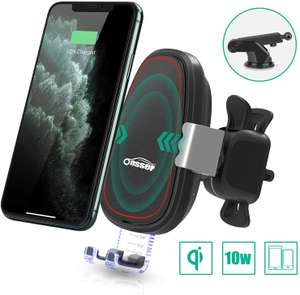 Supporto Smartphone per Auto con Caricabatterie Wireless