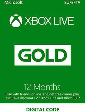 Xbox Live Gold 12 months EU Xbox live CD Key