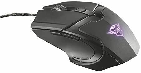 Trust Gaming GXT 101 Mouse da Gioco, Illuminato a 4800 DPI, Dotato di 6 Pulsanti,