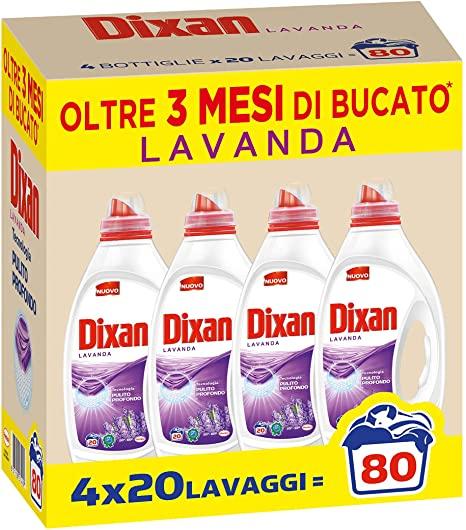 Dixan Lavanda Pulito Profondo Detersivo Liquido Lavatrice 80 Lavaggi