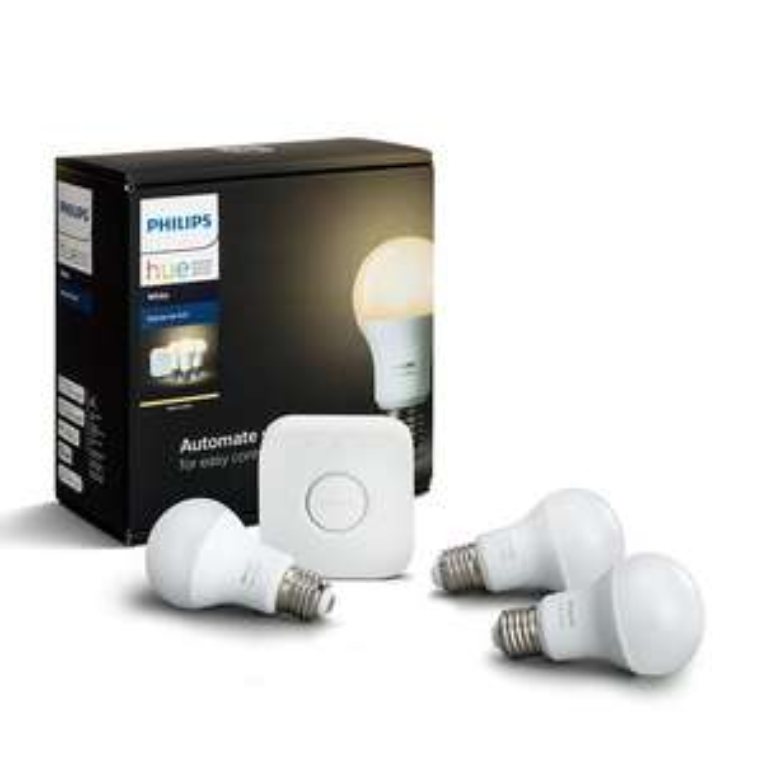 Philips Hue White 3 lampade 9W+ Bridge