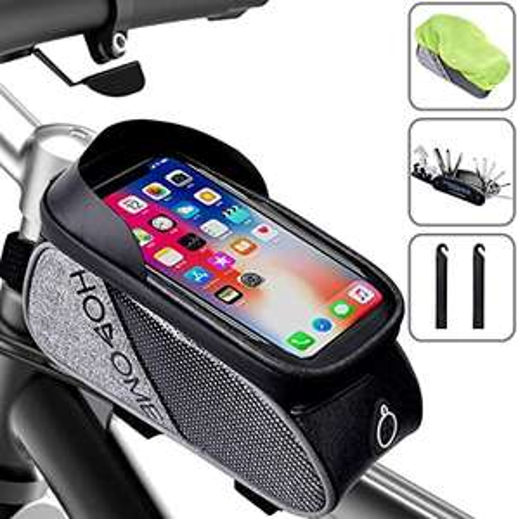 Borsetta con Supporto Smartphone per Bicicletta + Cacciavite 16 in 1