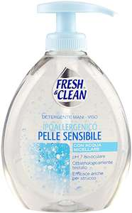 Fresh & Clean Detergente Mani -Viso Ipoallergenico Pelle Sensibile 300 ml