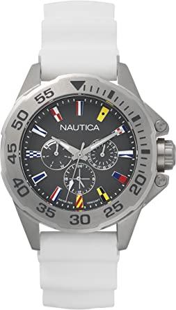 Orologio analogico Nautica con cinturino di silicone NAPMIA002