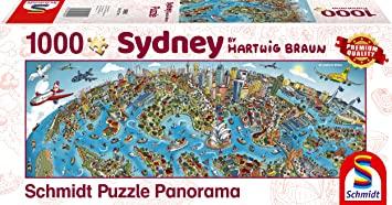 Schmidt Spiele Puzzle Puzzle da 1000 pezzi, motivo: Sidney, colore: Marrone 59595