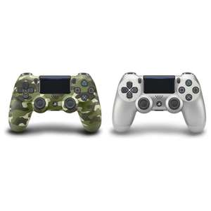 """SONY-PS4 - Controller Dualshock 4 V2 """"Green Camouflage"""" e """"Silver"""""""