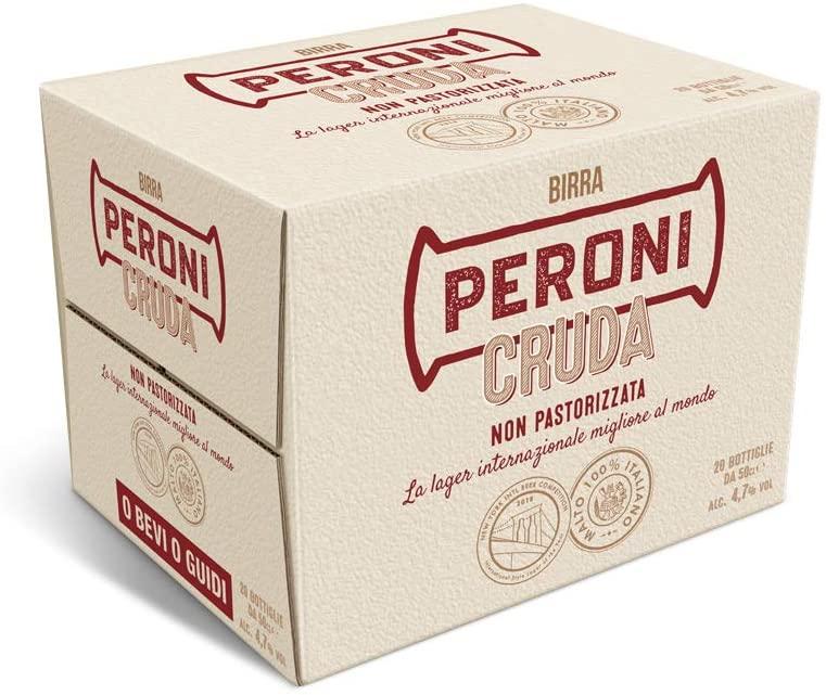 Birra Peroni Cruda 20X 500ml (10 litri) 19.2€