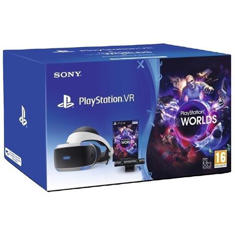 UNIEURO, AMAZON E MEDIAWORLD: Playstation 4 - PS VR Mk4 + Camera + Gioco VR Worlds (Voucher) - Bundle Fisico