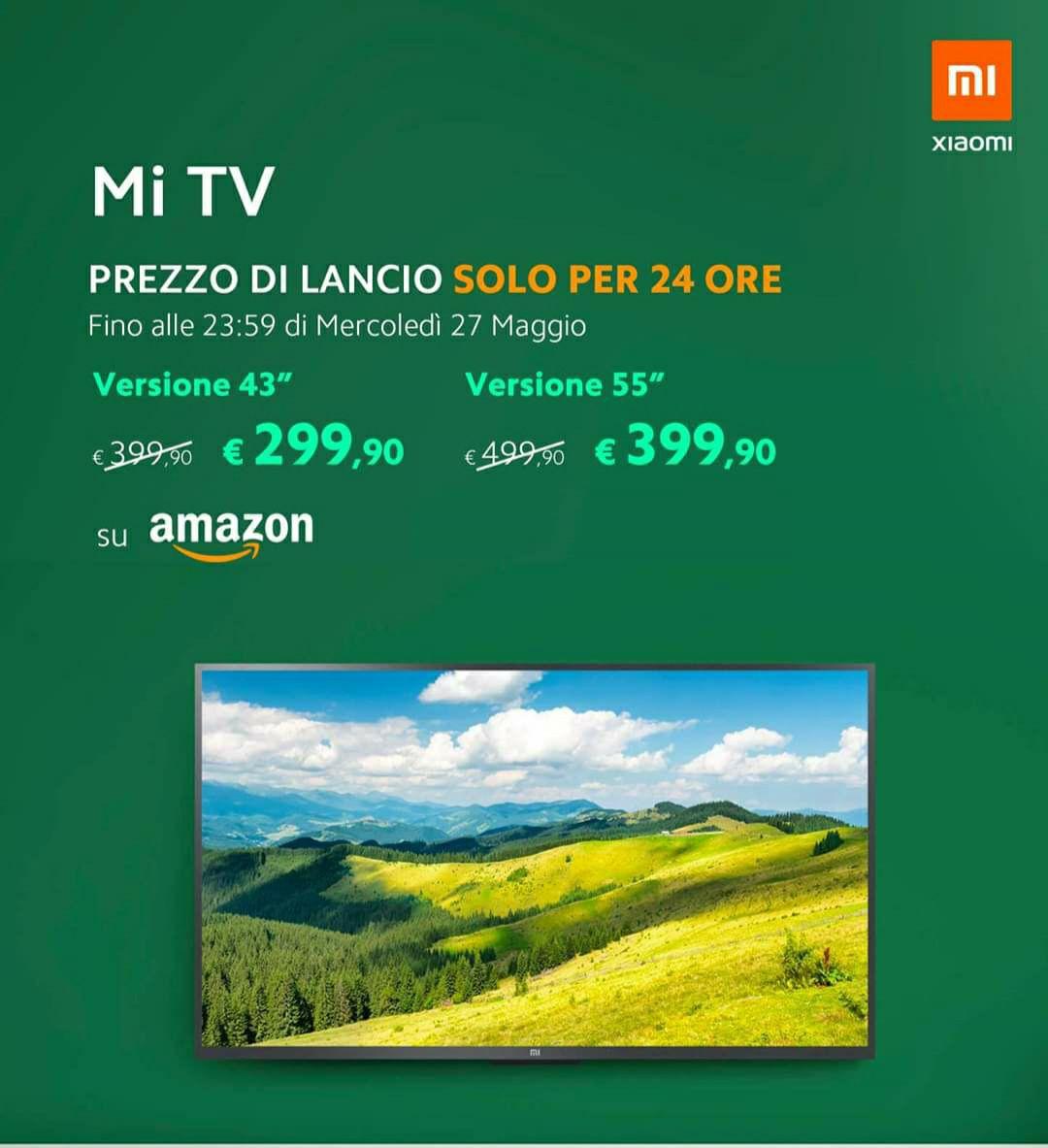 MI TV 4K ULTRA HD AL SUPER PREZZO DI LANCIO PER 24 ORE!!!