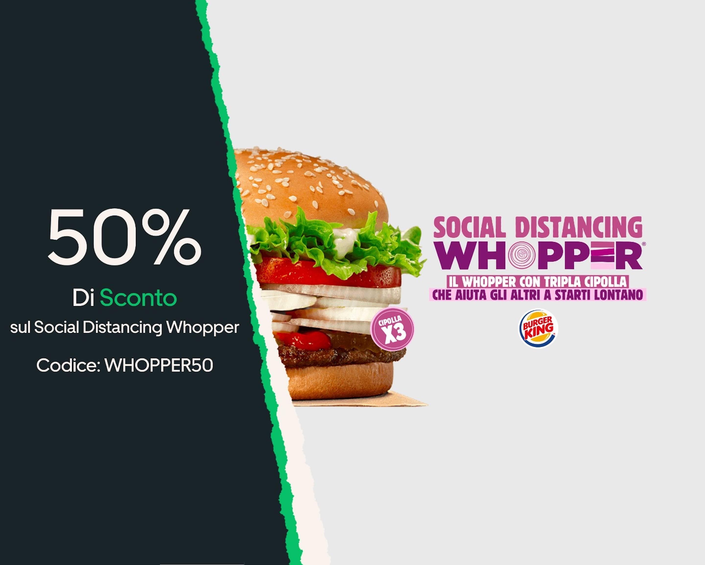 Uber Eats - Whopper burger king al 50%