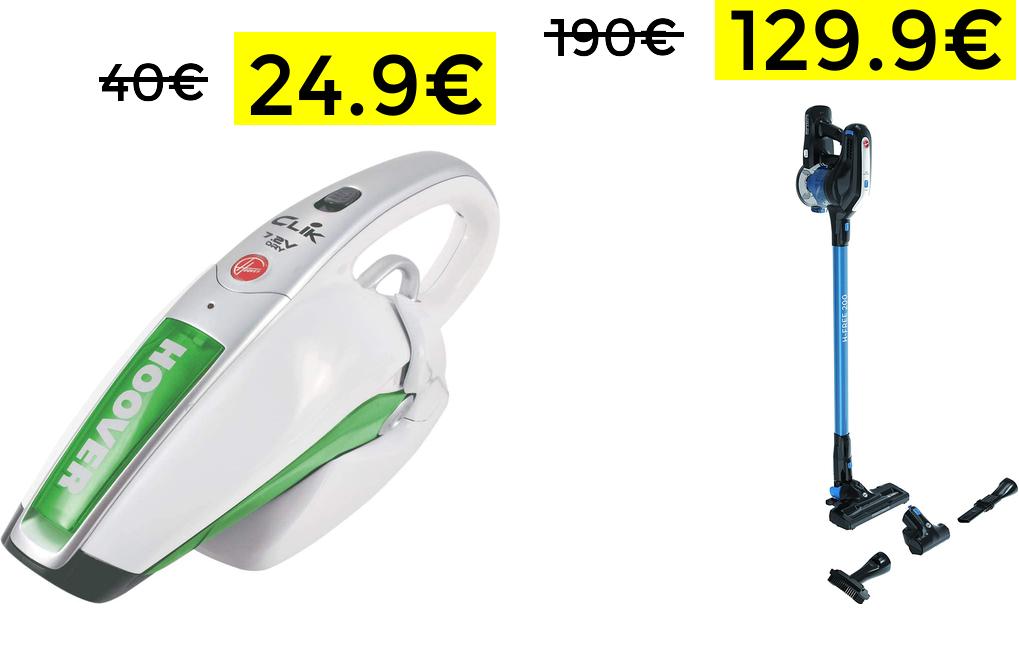 Aspirabriciole Hoover a Batteria 24.9€